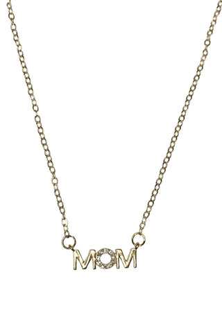 EMM Copenhagen MOM Necklace w. Zircon stone - Gold Smykker EMM