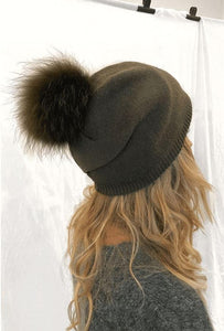 LHS Hat - Army Green Accessories LHS Fur