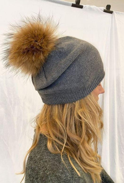 LHS Hat - Grey Accessories LHS Fur