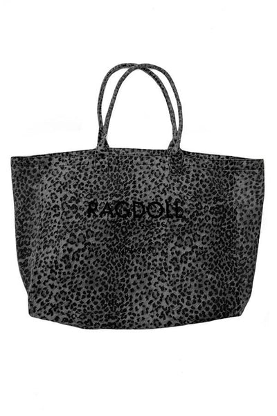 Ragdoll LA Holiday Bag - Anthracite Leopard Accessories Ragdoll