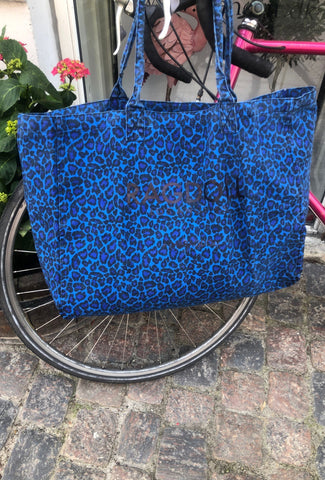 Ragdoll LA Holiday Bag - Electric Blue Leopard Accessories Ragdoll