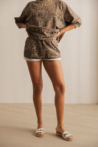 Ragdoll LA Sweat Shorts - Brown Leopard Bukser Ragdoll