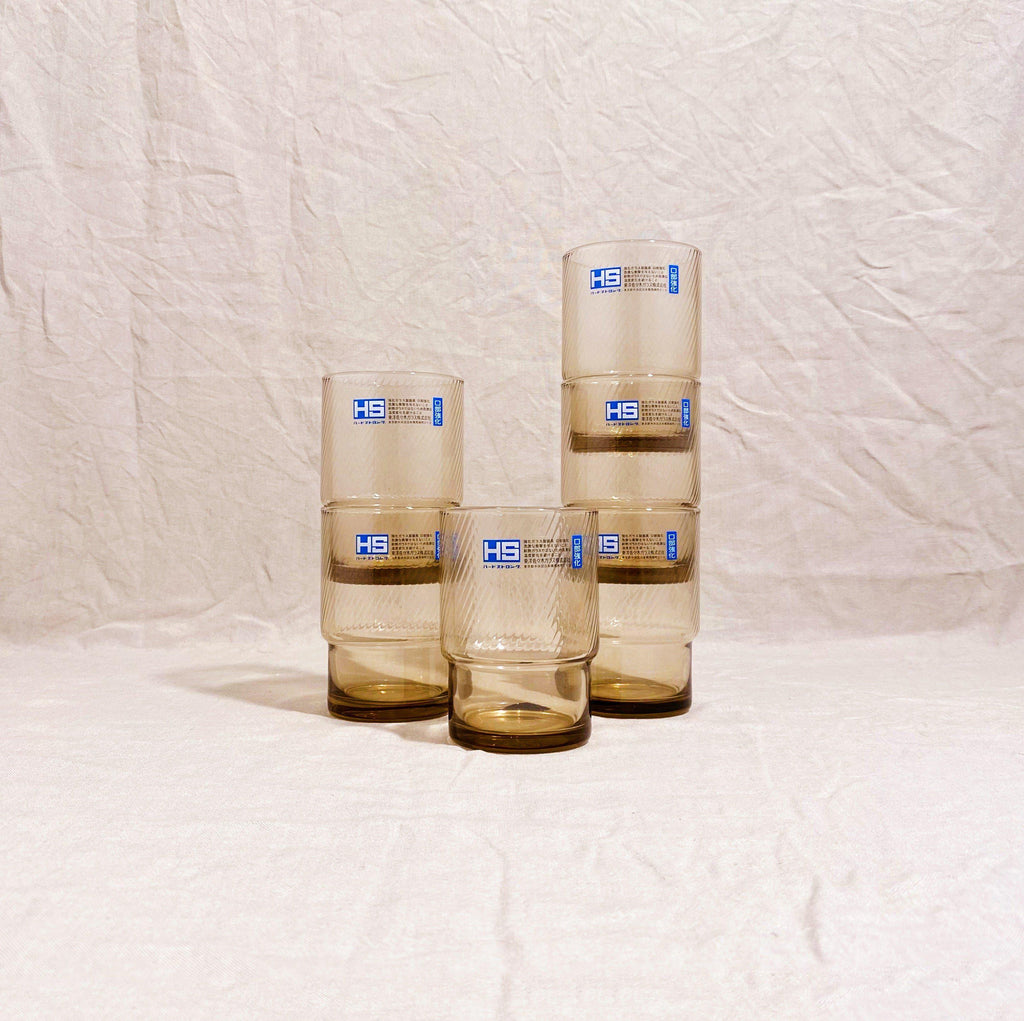 Toyo-Sasaki - HS Stackable Tinted Glass Tumbler (Set of 6)