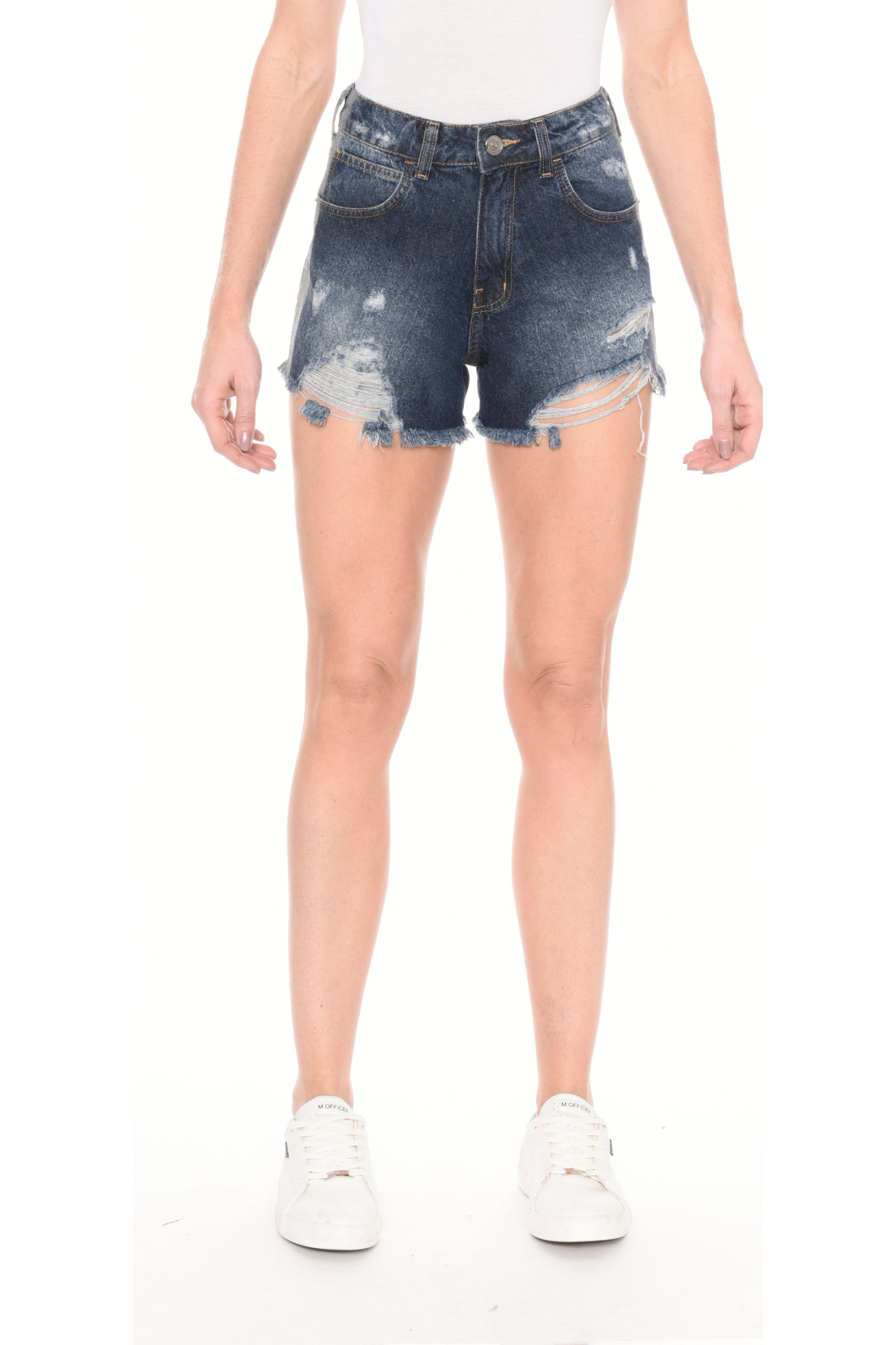 SHORTS JEANS C4 DARK  GLITTER LATERAL
