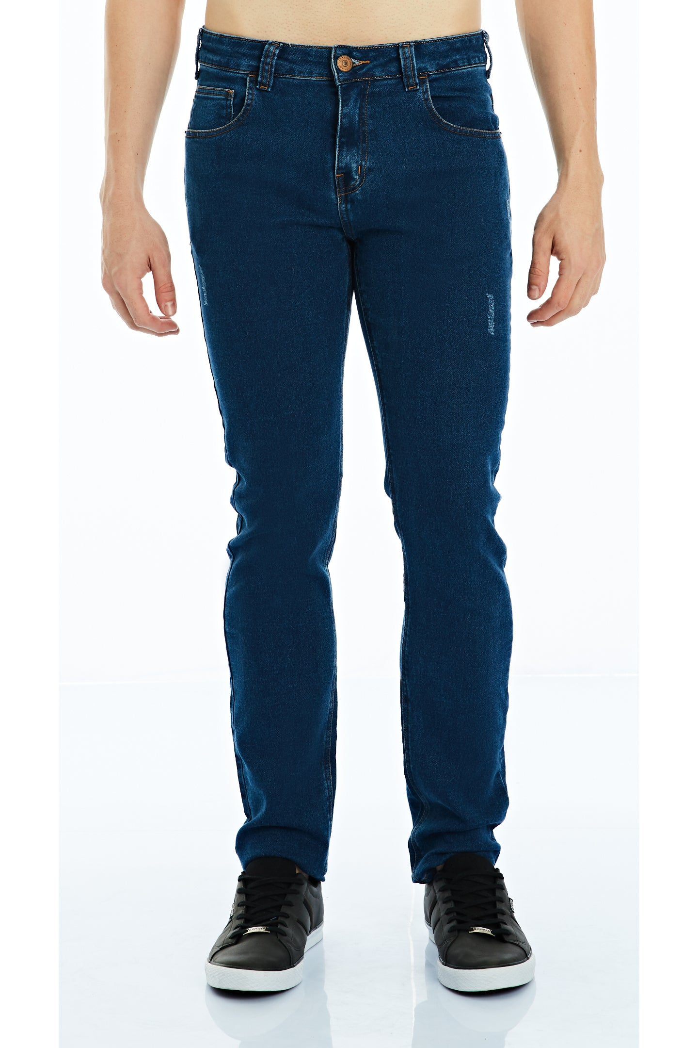 CALÇA JEANS COOL FIT BLUE WASH MOLETOM