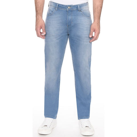 CALÇA JEANS SLIM FIT LIGHT BLUE