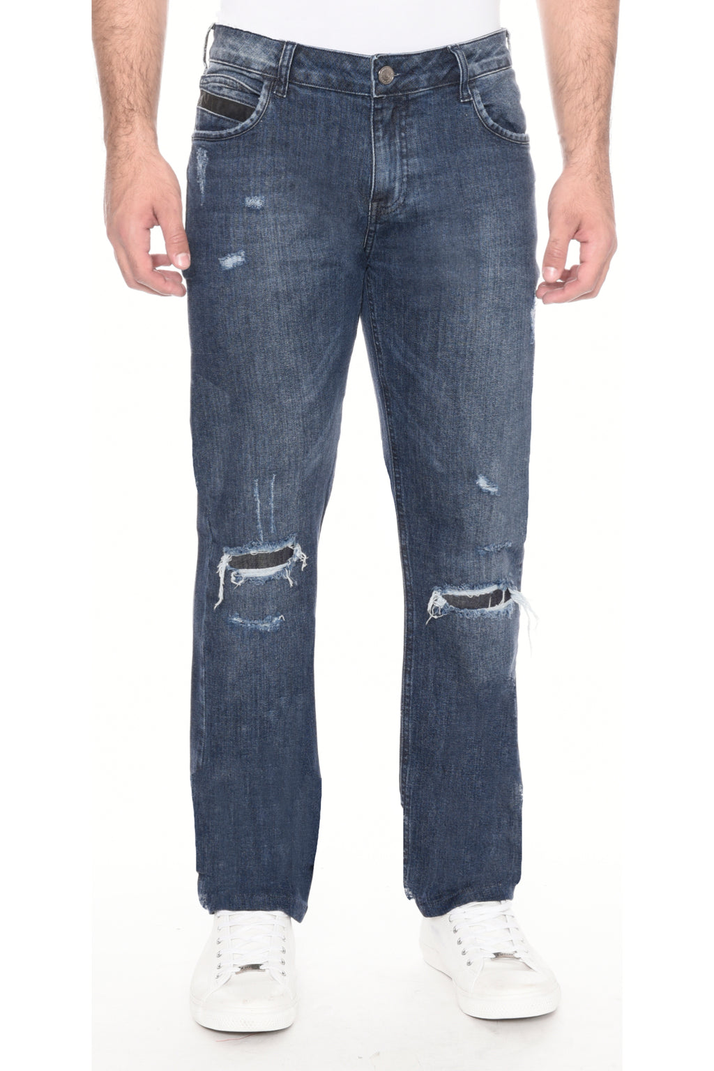 CALÇA JEANS SLIM DARK BLUE