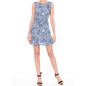 VESTIDO BEST REGATA EST. FLOR DENIM