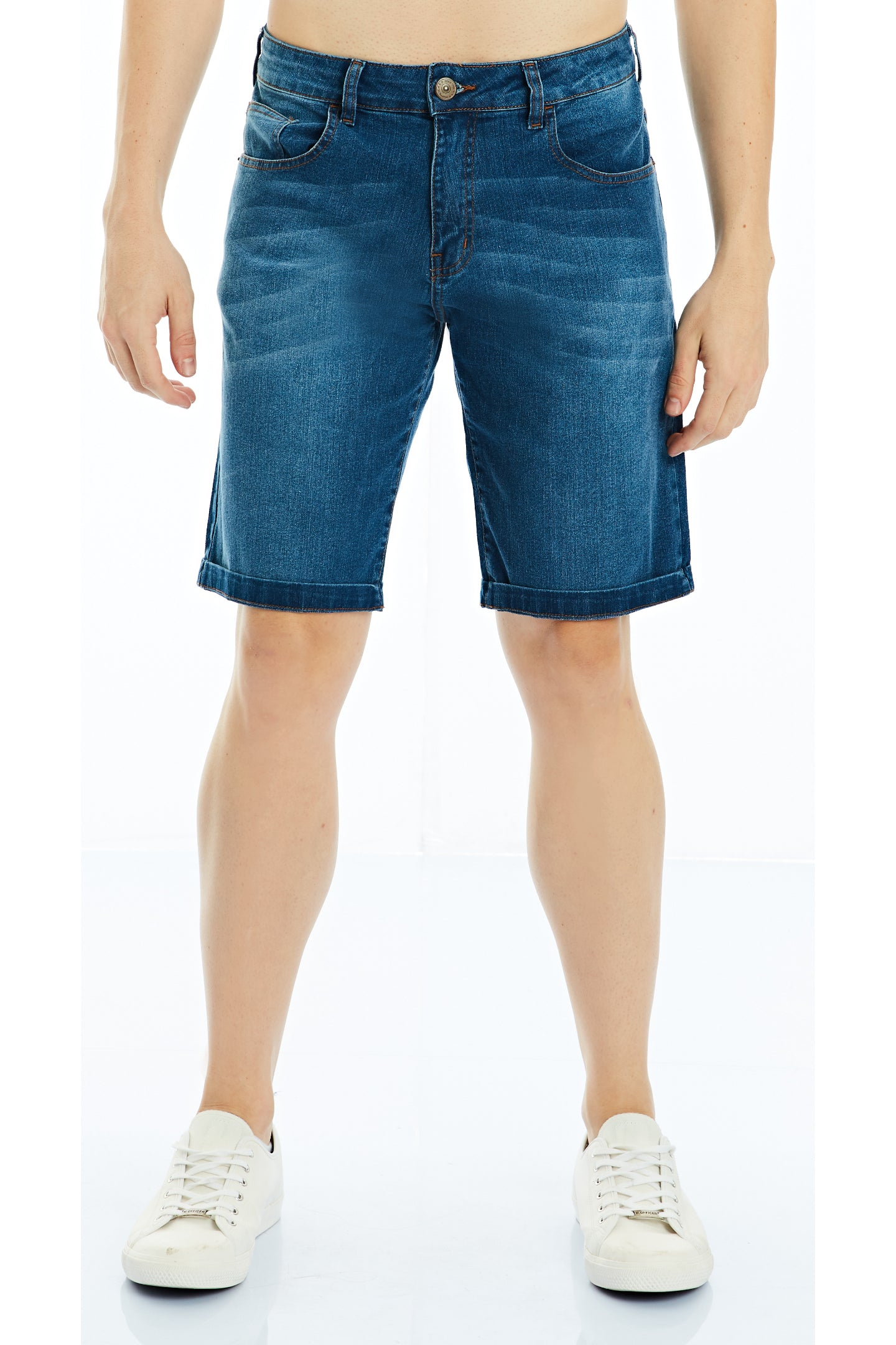 BERMUDA JEANS BLUE WASH