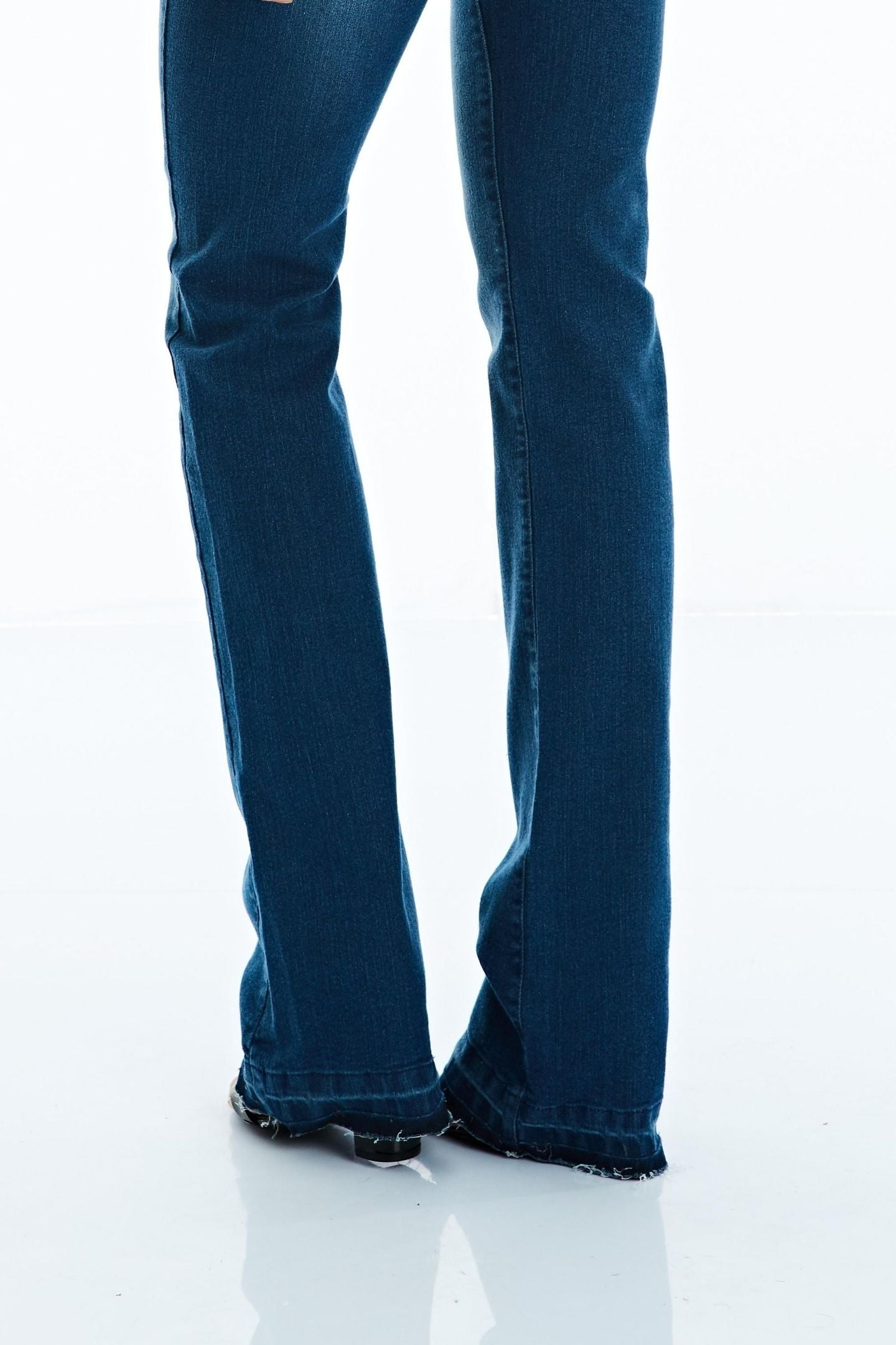 CALÇA JEANS BOOT CUT C4 BLUE WASH