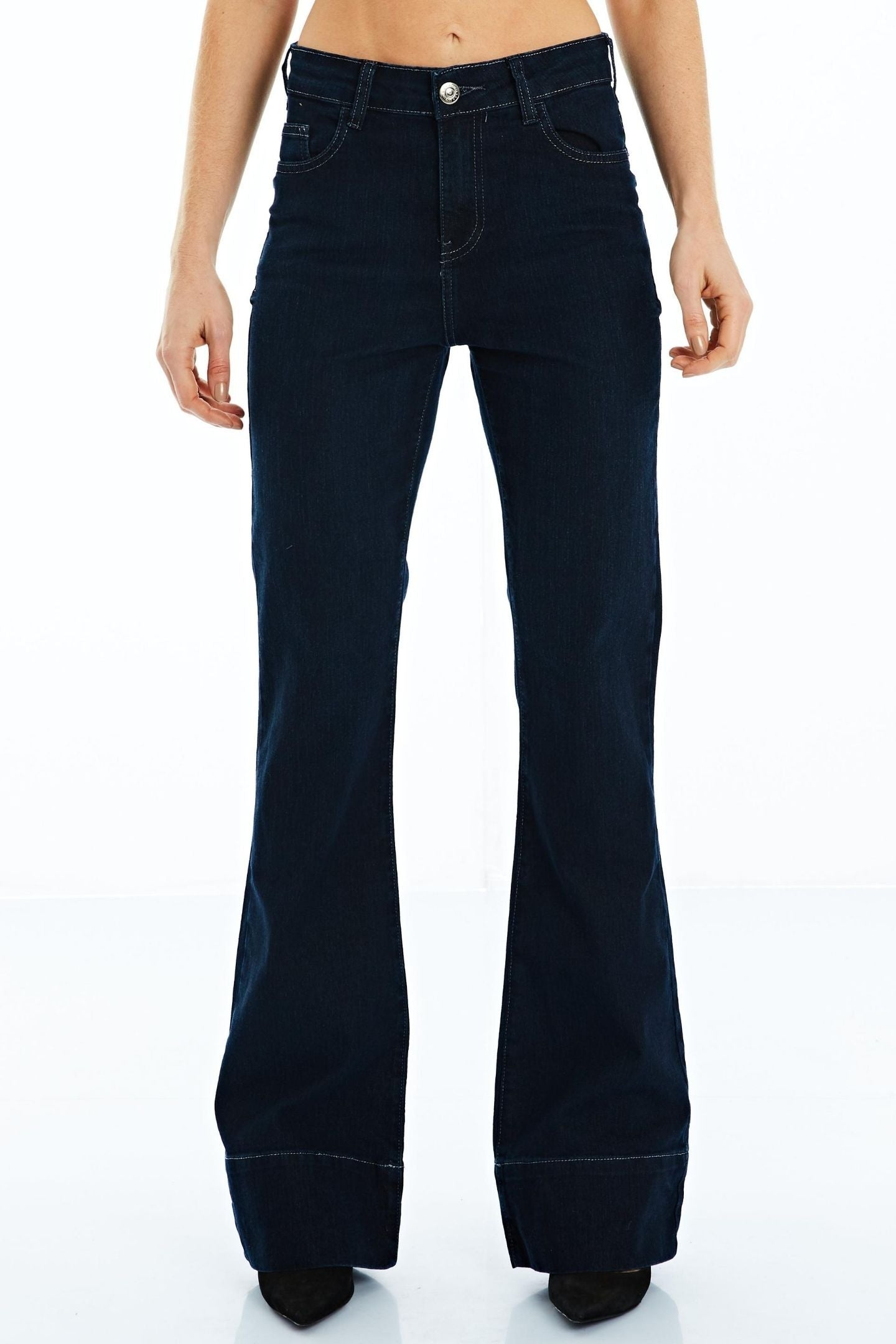 CALÇA JEANS BOOT CUT C3 DARK BLUE