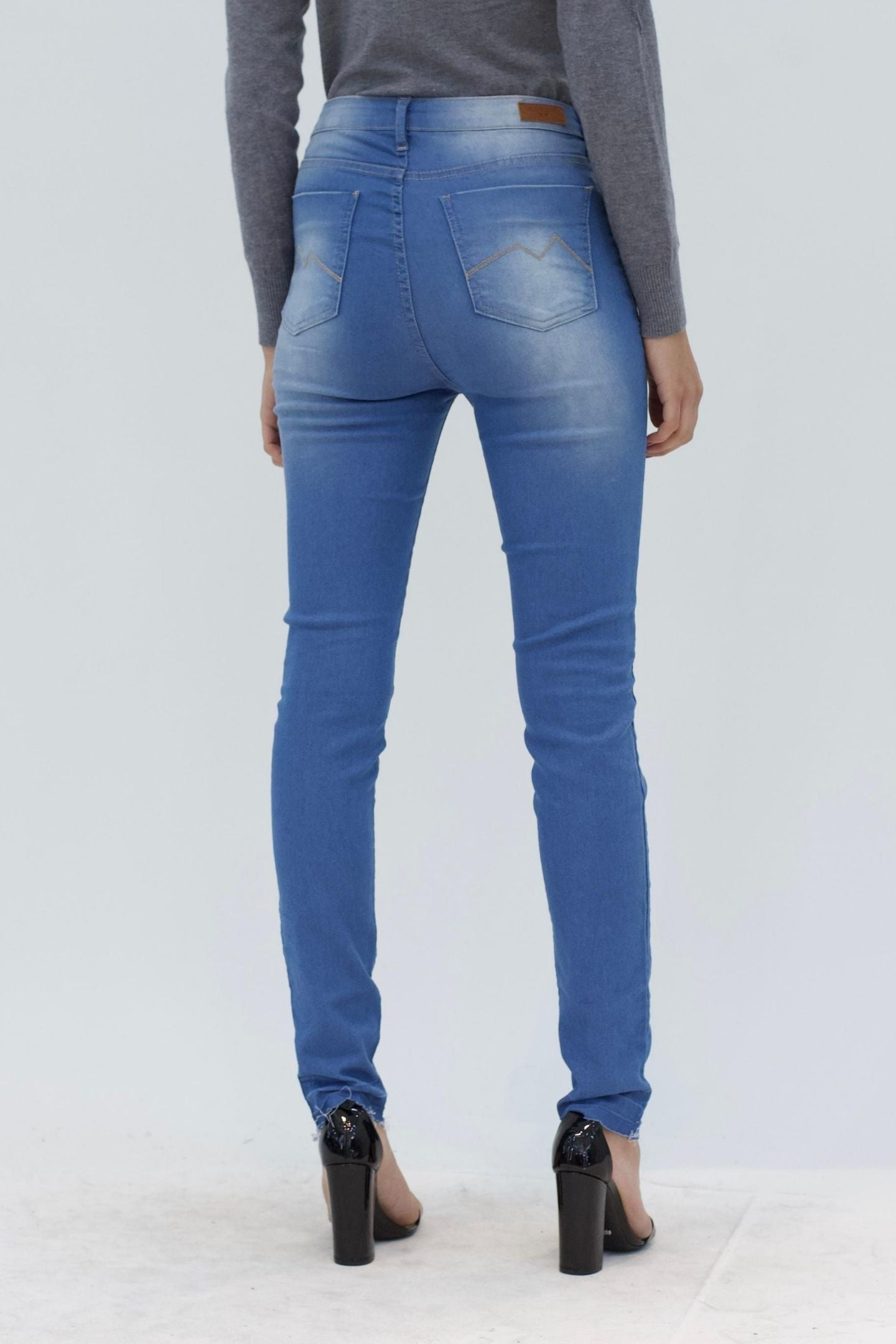 CALÇA JEANS SKINNY C4 LIGHT BLUE