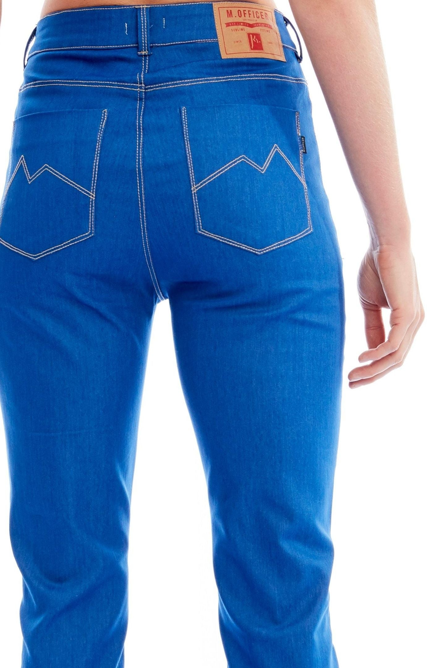 CALÇA JEANS C4 BOOT CUT ROYAL BLUE