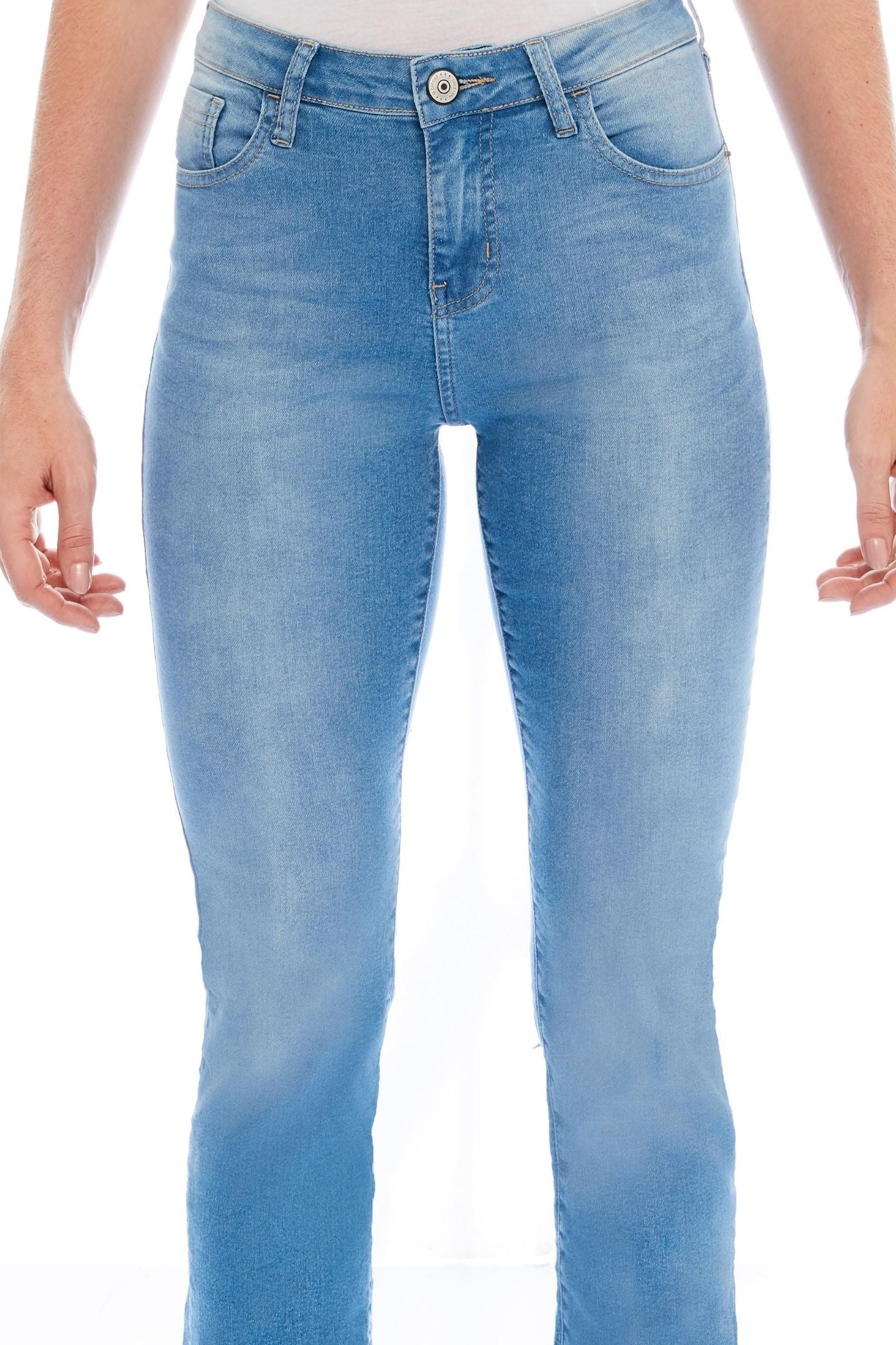 CALÇA JEANS RETA C3 LIGHT BLUE