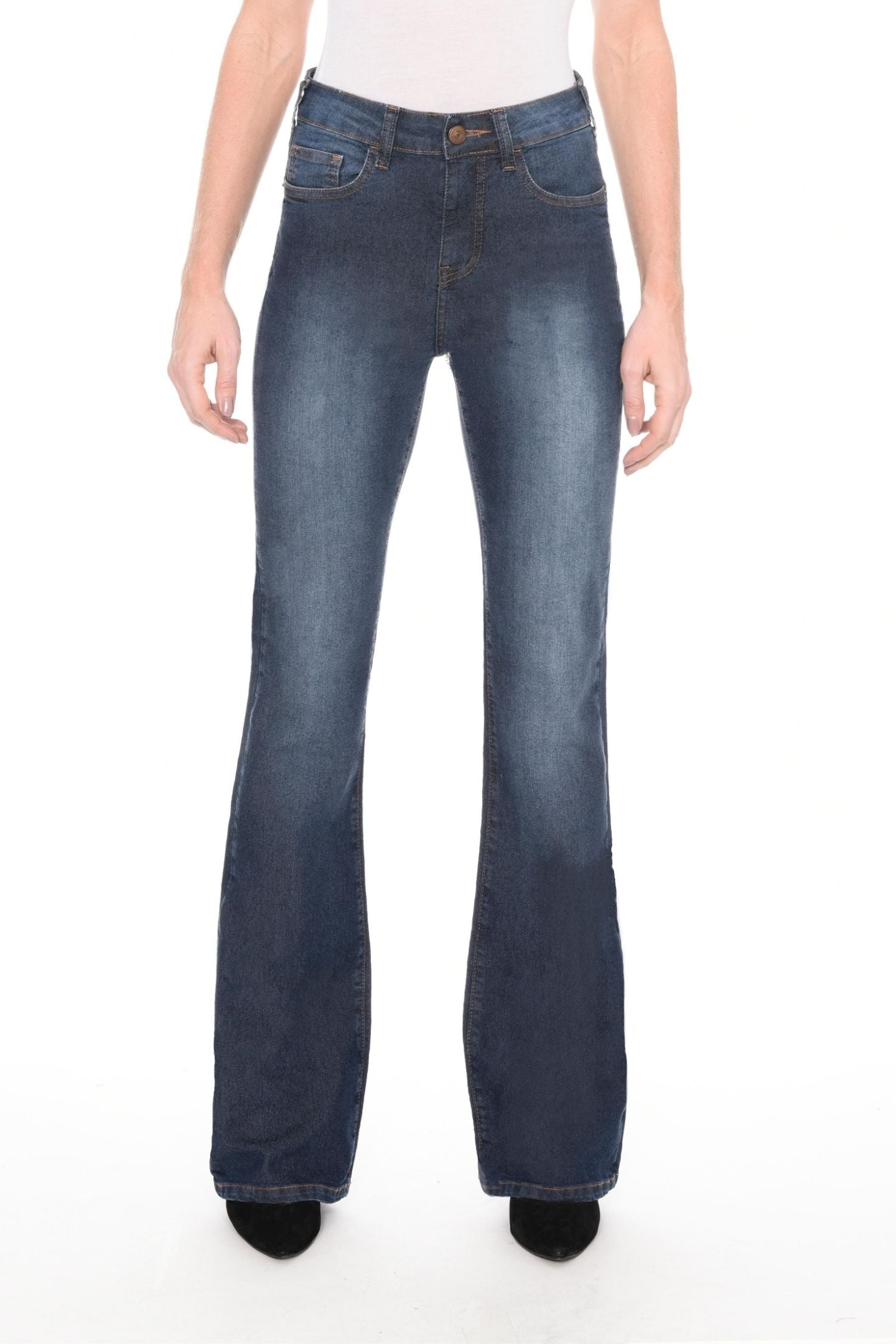 CALÇA JEANS CURVES BOOT CUT C4 BLUE WASH