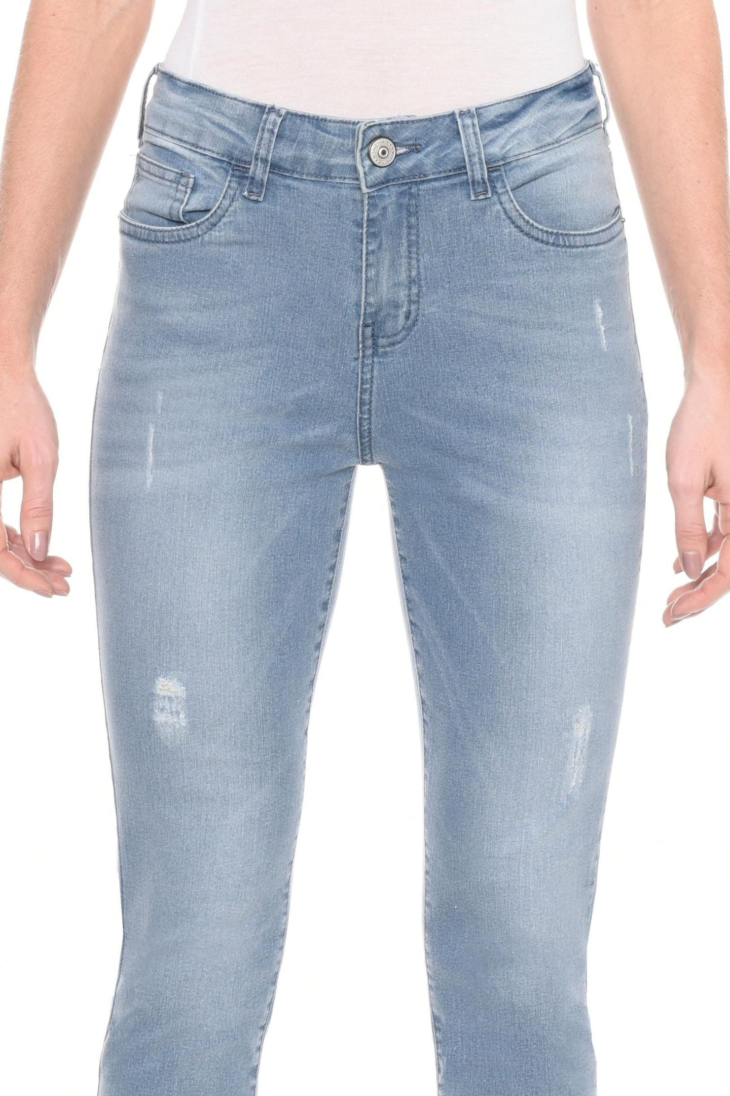 CALÇA JEANS SKINNY C3 LIGHT BLUE