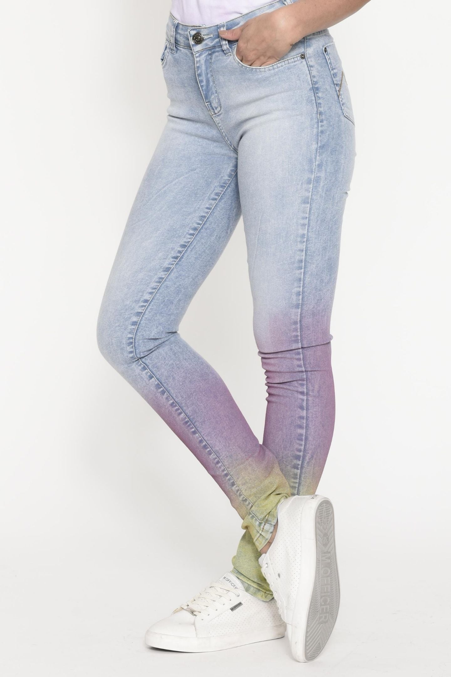 CALÇA JEANS SUPER SKINNY C4 DEGRADÊ COLOR