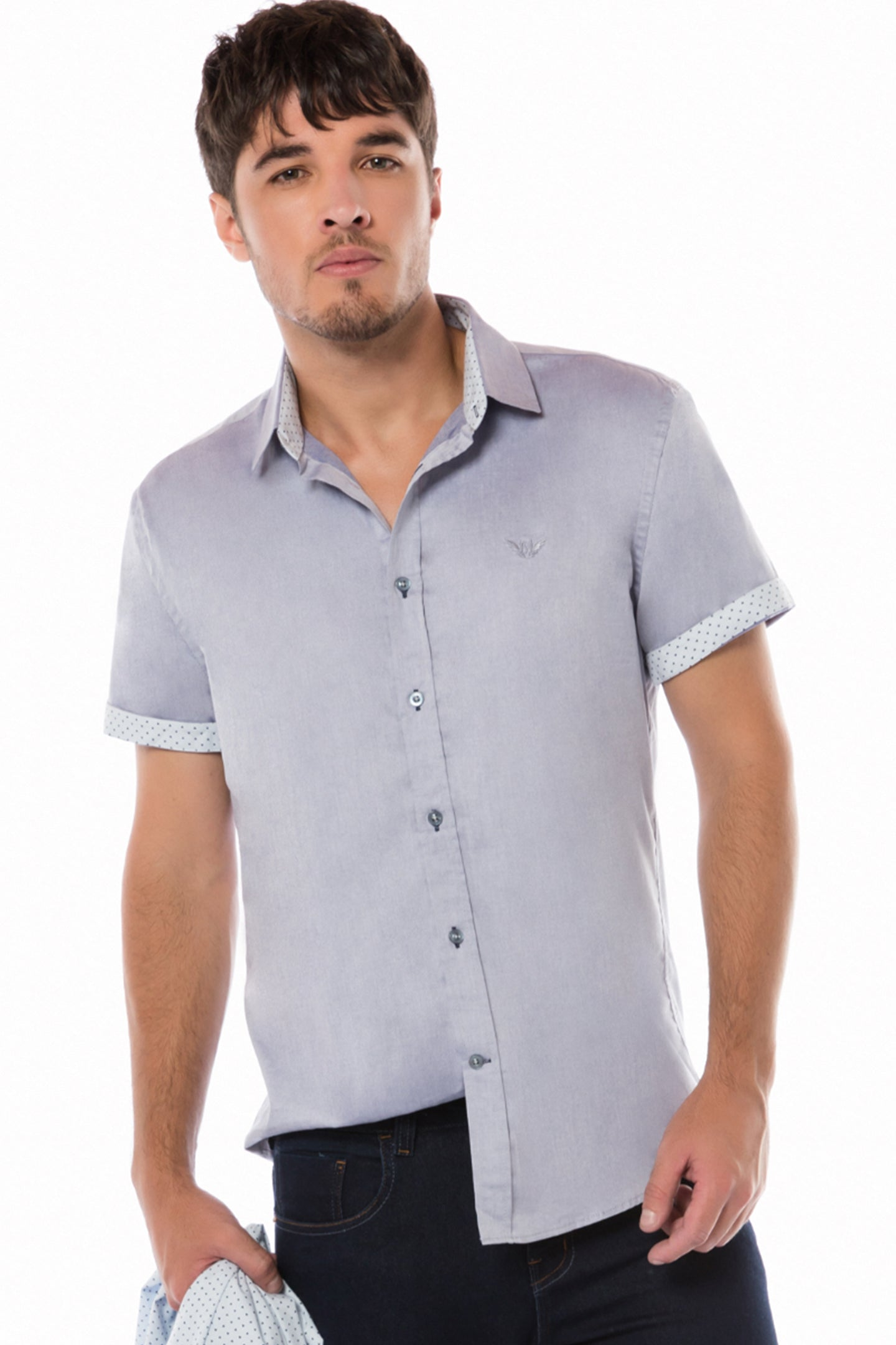 CAMISA SLIM M/L ESTAMPADA CASUAL