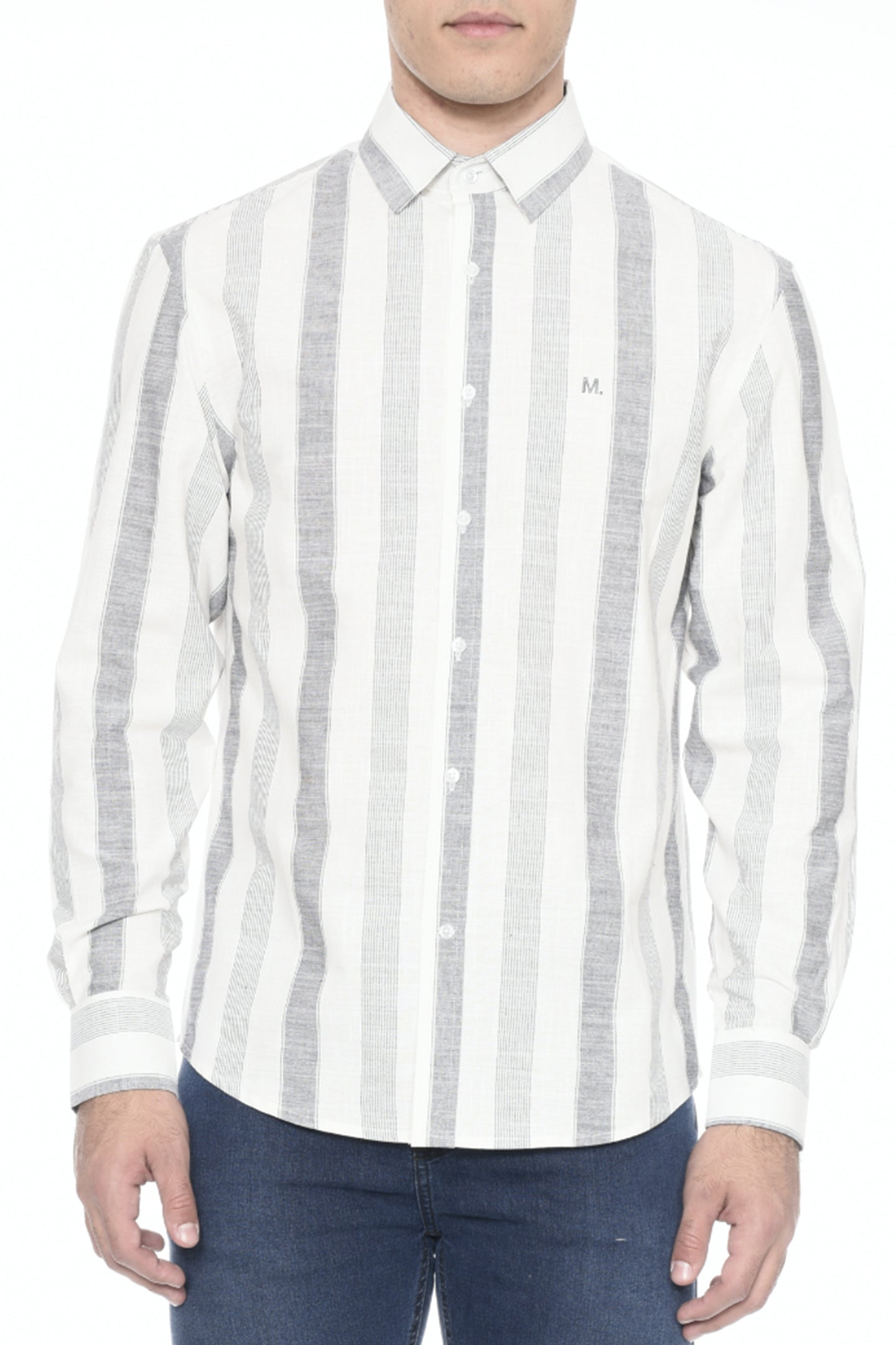 CAMISA COMFORT M/L LISTRAS MARTINGALE CASUAL