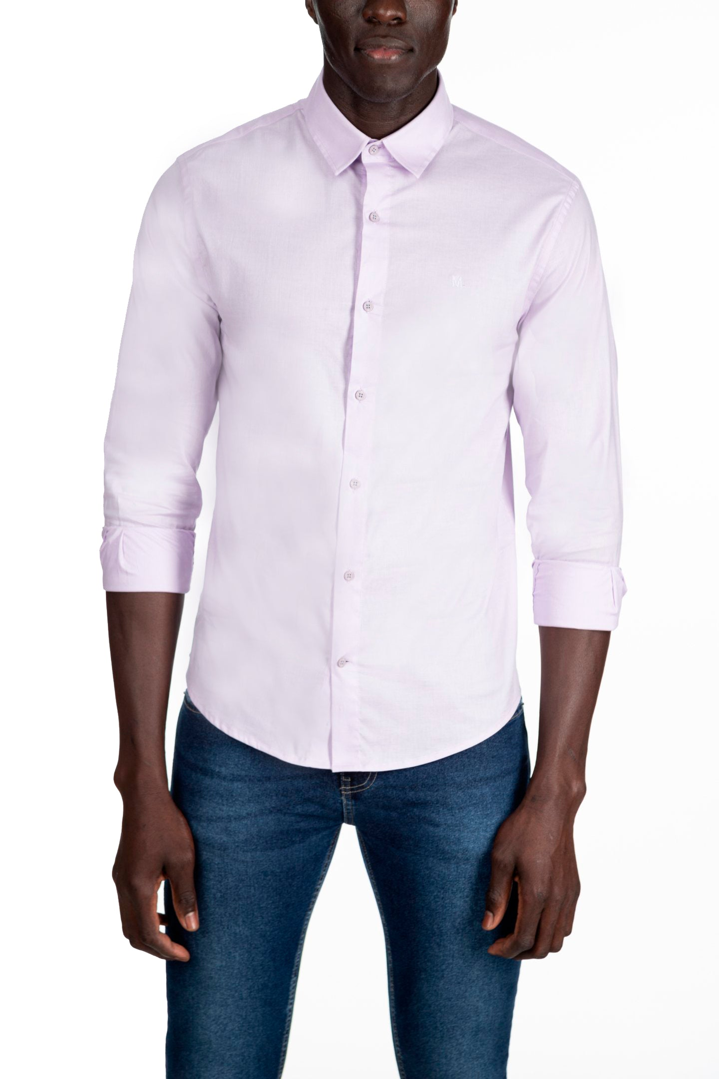 CAMISA SLIM M/L LISA COM ELASTANO OFFICE