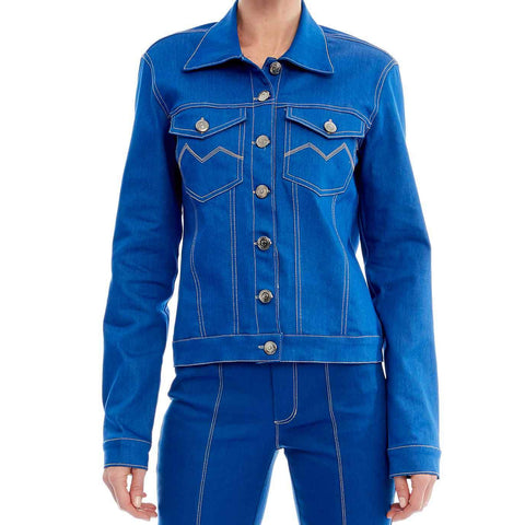 JAQUETA JEANS ROYAL BLUE