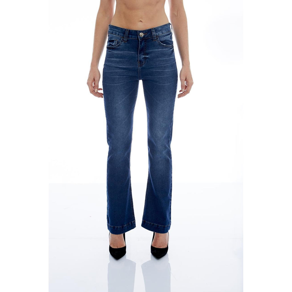 CALÇA JEANS PREMIUM BOOT CUT C4 BLUE WASH