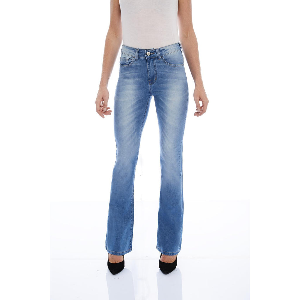 CALÇA JEANS BOOT CUT C4 LIGHT BLUE