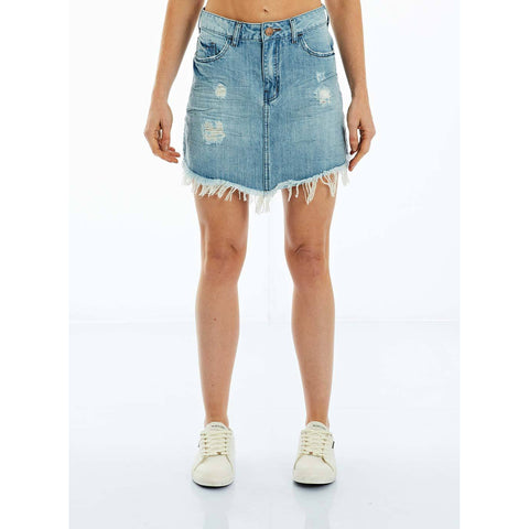 SAIA JEANS LIGHT BLUE DESTROYED