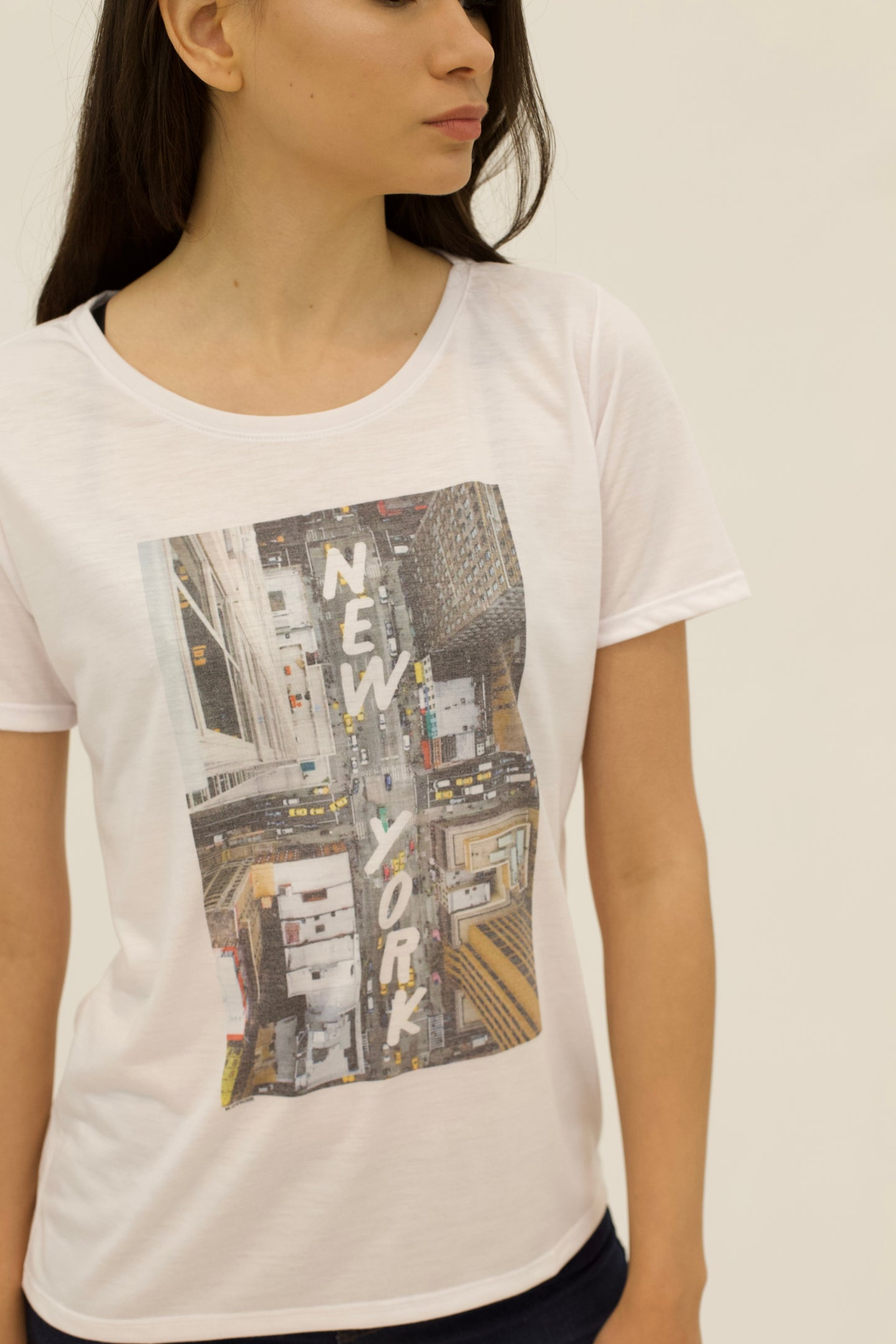 T-SHIRT ESTAMPA NEW YORK