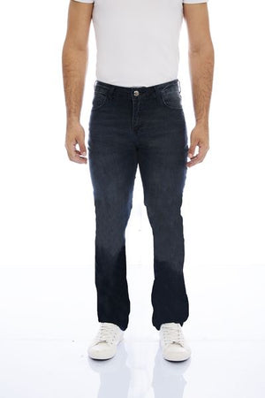 CALCA JEANS RETA DARK BLUE