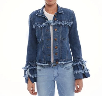JAQUETA JEANS BLUE WASH