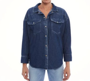 CAMISA JEANS BLUE WASH OVERSIZED