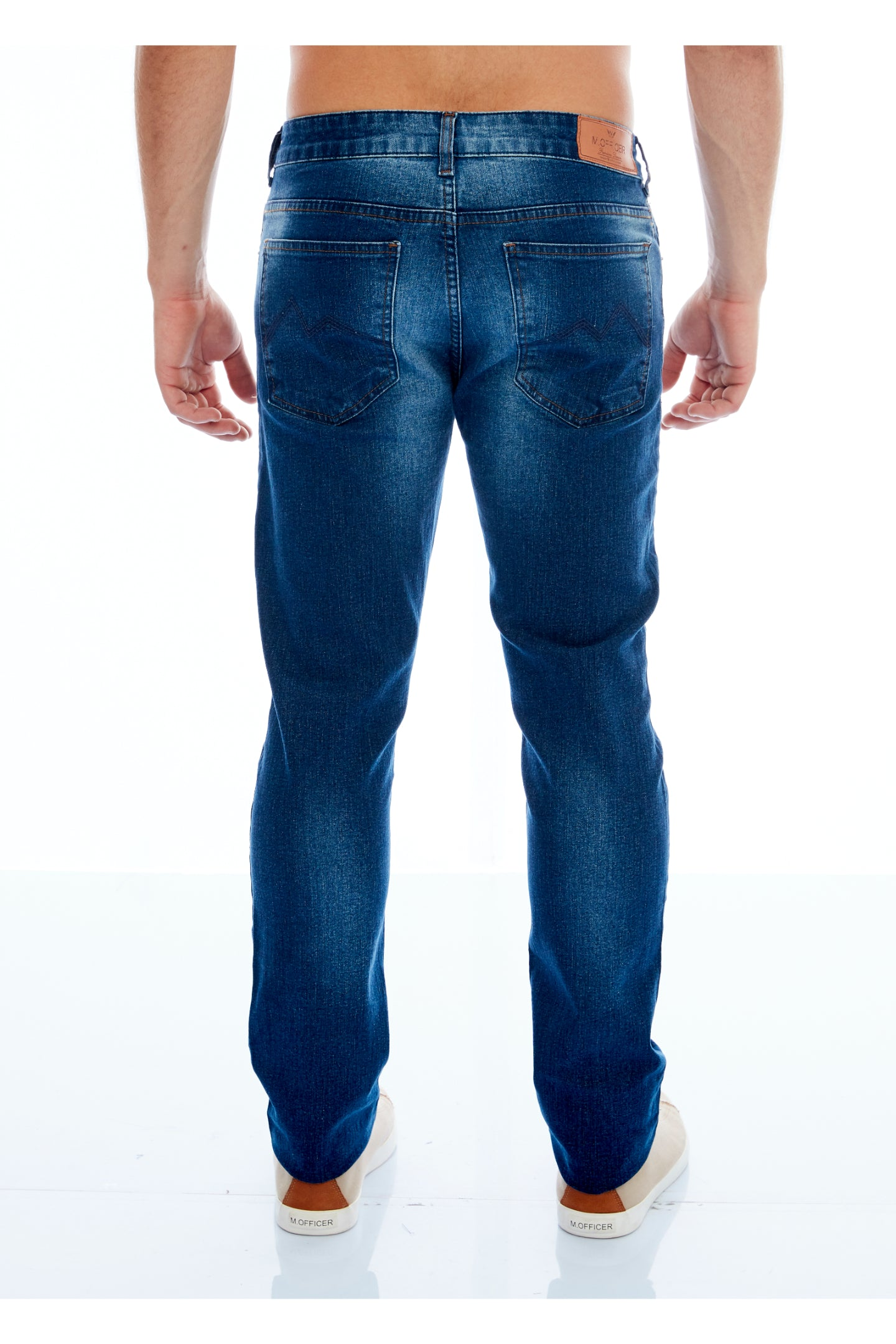 CALÇA JEANS SLIM BLUE WASH