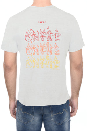 CAMISETA C M/C GOLA C SILK ON FIRE