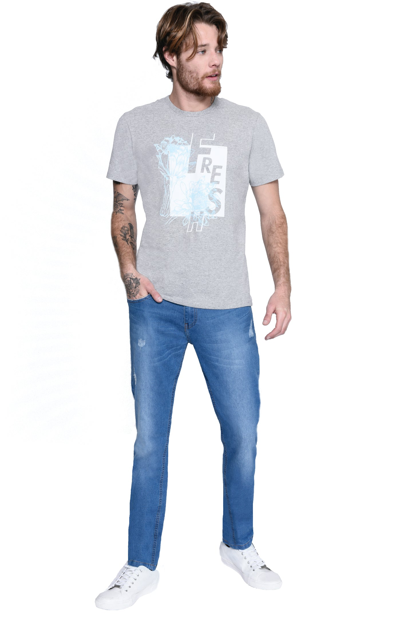 CAMISETA SLIM M/C GOLA C SILK FRESH