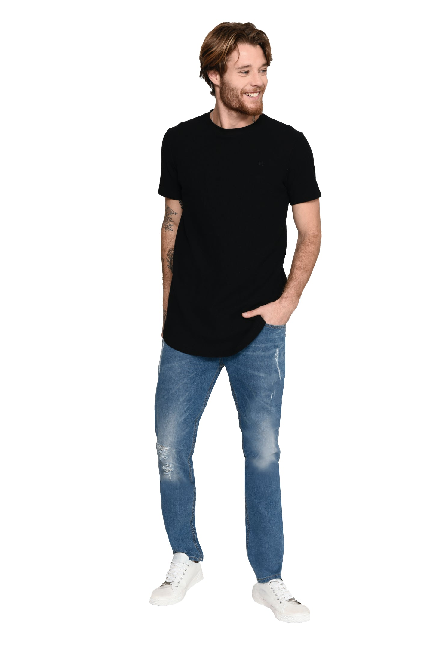 CAMISETA M/C LONG LISA QUADRILÊ
