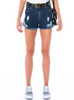 SHORTS JEANS DESTROYED COM SILK