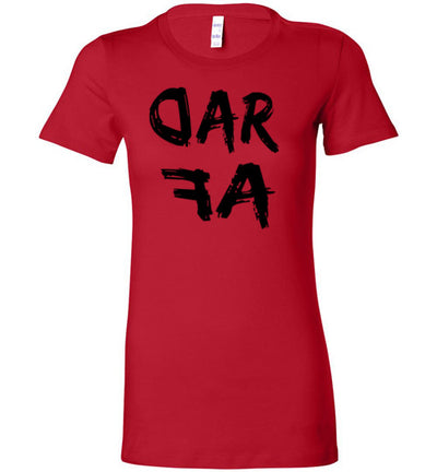 SportsMarket Premium Clothing Line-RAD AF Bella Ladies Tshirt