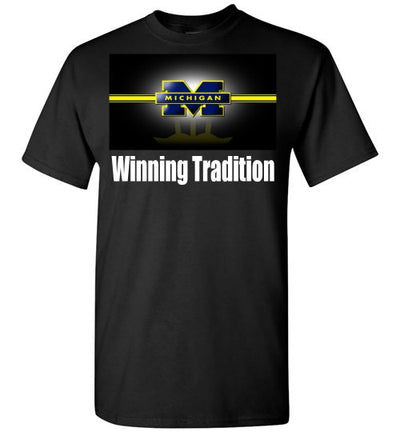 SportsMarket Premium Clothing Line-Michigan Winning Tradition Tshirt-SportsMarkets-Black-S-SportsMarkets