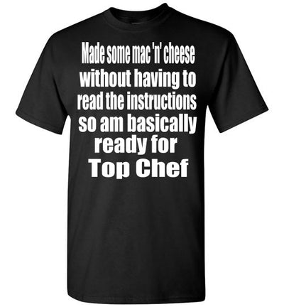 SportsMarket Premium Clothing Line-Top Chef Ready Tshirt-SportsMarkets-Black-S-SportsMarkets