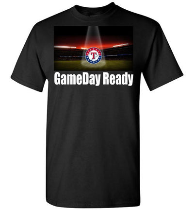 SportsMarket Premium Clothing Line-Texas Rangers Gameday Ready Tshirt-SportsMarkets-Black-S-SportsMarkets