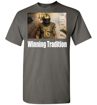 SportsMarket Premium Clothing Line-Notre Dame Winning Tradition-tshirt-Teescape-Charcoal-S-SportsMarkets