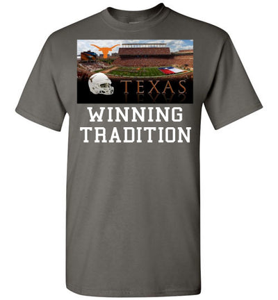 SportsMarket Premium Clothing Line-Texas Longhorns Winning Tradition-Tshirt-Teescape-Charcoal-S-SportsMarkets
