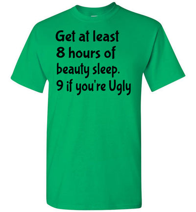 SportsMarket Premium Clothing Line-Get Sleep Tshirt-Tshirt-SportsMarkets-Irish Green-S-SportsMarkets