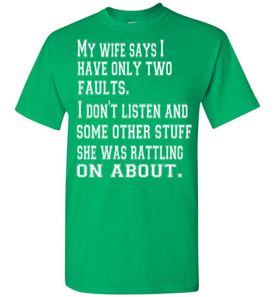 SportsMarket Premium Clothing Line-My Fault Men's Tshirt-SportsMarkets-Irish Green-S-SportsMarkets