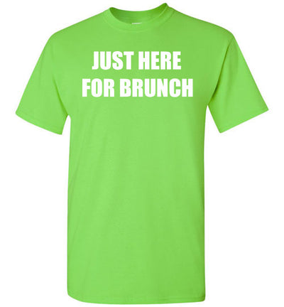 SportsMarket Premium Clothing Line-St. Paddy's Day-Just Here for Brunch Tshirt-Tshirt-Teescape-Lime-S-SportsMarkets
