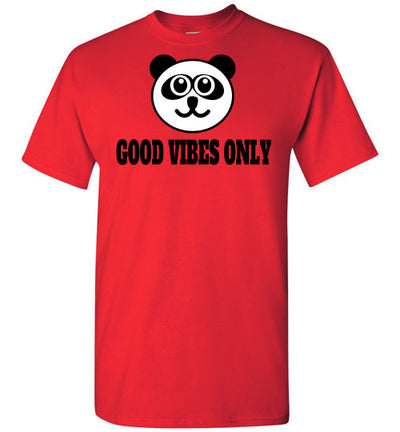 SportsMarket Premium Clothing Line-Good Vibes Only Tshirt-SportsMarkets-Red-S-SportsMarkets