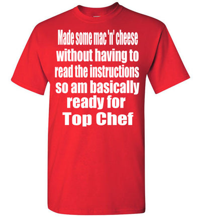 SportsMarket Premium Clothing Line-Top Chef Ready Tshirt-SportsMarkets-Red-S-SportsMarkets