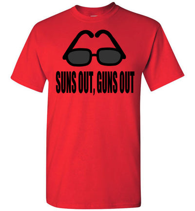 SportsMarket Premium Clothing Line-Suns Out, Guns Out Tshirt-SportsMarkets-Red-S-SportsMarkets