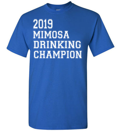 SportsMarket Premium Clothing Line-St. Paddy's Day Tshirt-2019 Mimosa Drinking Champion-Tshirt-Teescape-Royal-S-SportsMarkets
